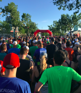 Calgaty Marathon start line